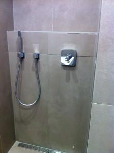 Dusche aus der Nähe